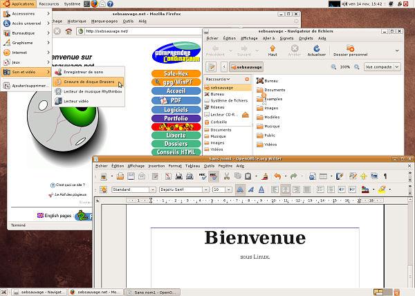 Capture d'écran de Linux (Ubuntu)